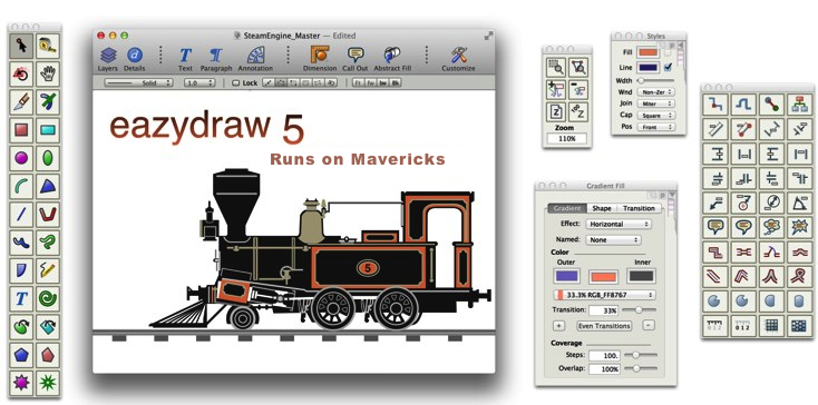 EazyDraw, Make Drawing Fun on OS-X