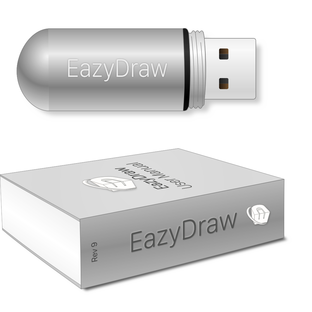 EazyDraw flash drive and manual